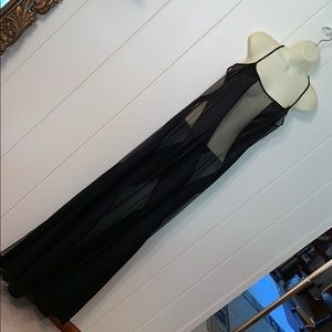 Vtg super sexy Frederick's of Hollywood black gown